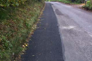 Asphalt Zipper for haunching